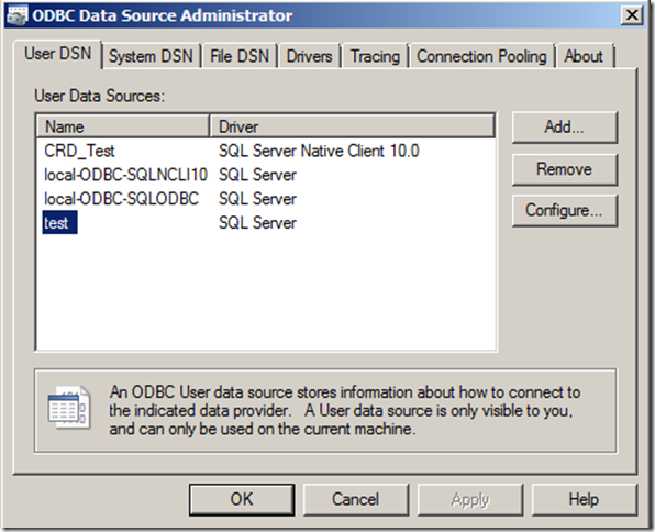 Export An Odbc Data Source From The Registry Ken Cenerelli