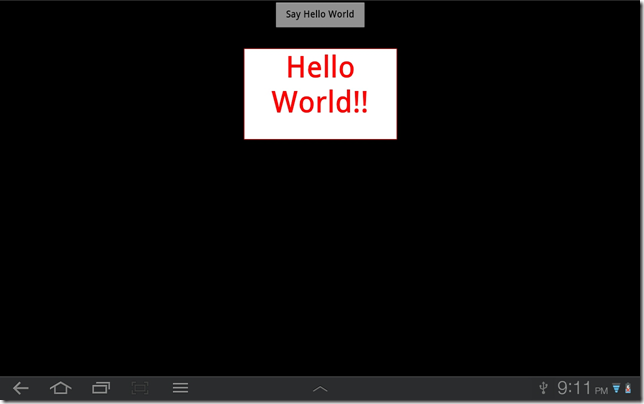 Hello World App