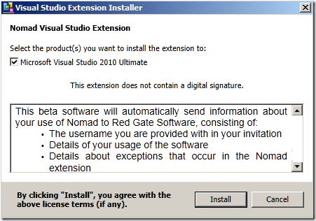 Nomad Extension Installer