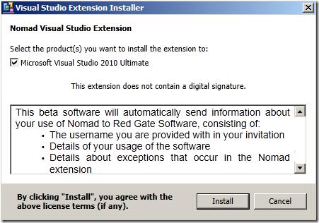 Nomad Extension Installer