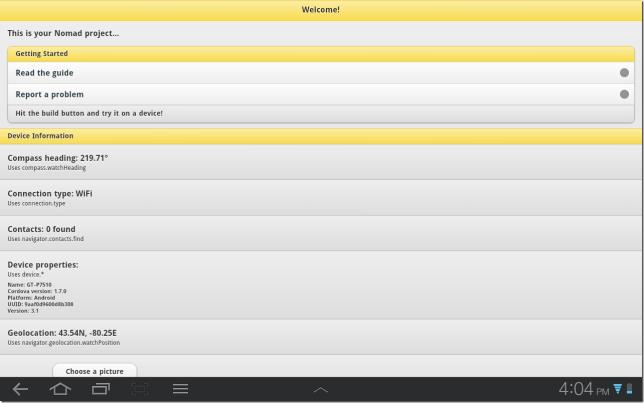 Nomad Hello World App Running
