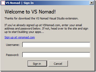 Nomad Sign In