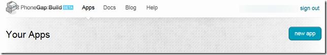 PhoneGap Build Dashboard