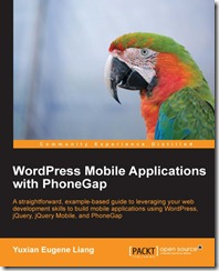 WordPress Mobile Applications with PhoneGap book cover
