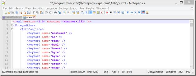 C# Auto Complete XML