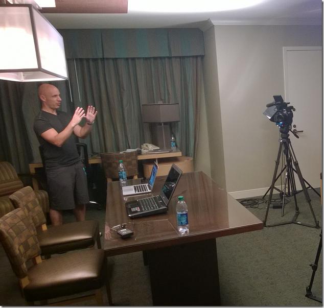 Pluralsight taping with Ken Cenerelli and John Papa