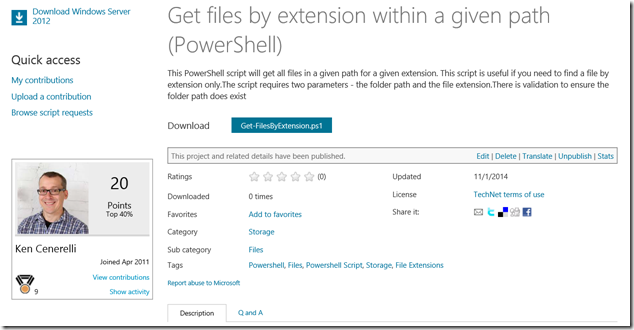 Get files by extension within a given path (PowerShell) by Ken Cenerelli