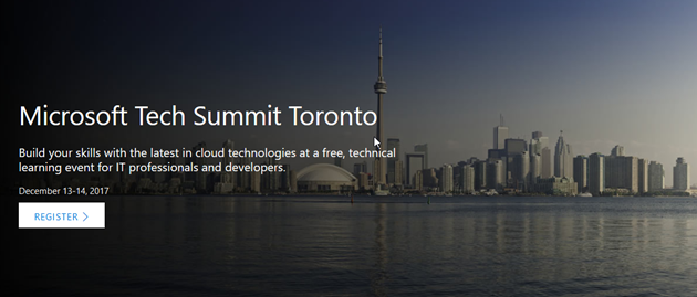 Microsoft Tech Summit Toronto