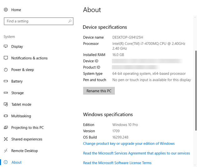 How to check if Windows 10 Fall Creators Update is installed | Ken